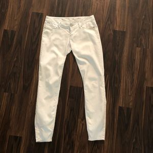 Express skinny white jeans
